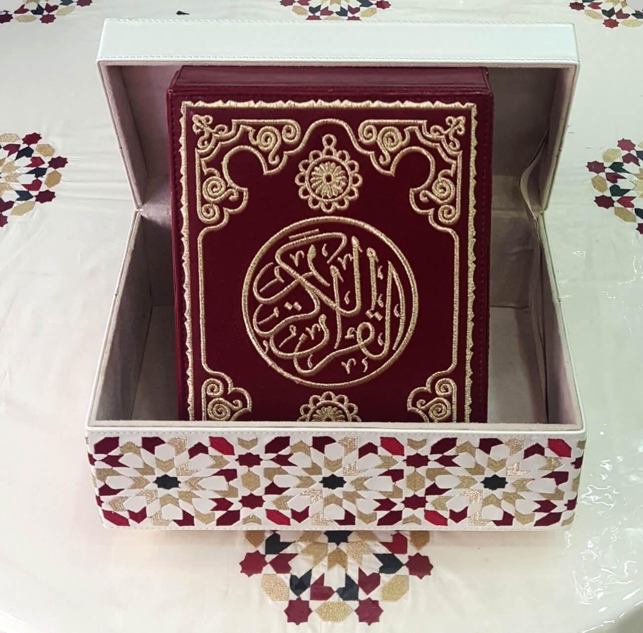 Quran avec couverture & coffret