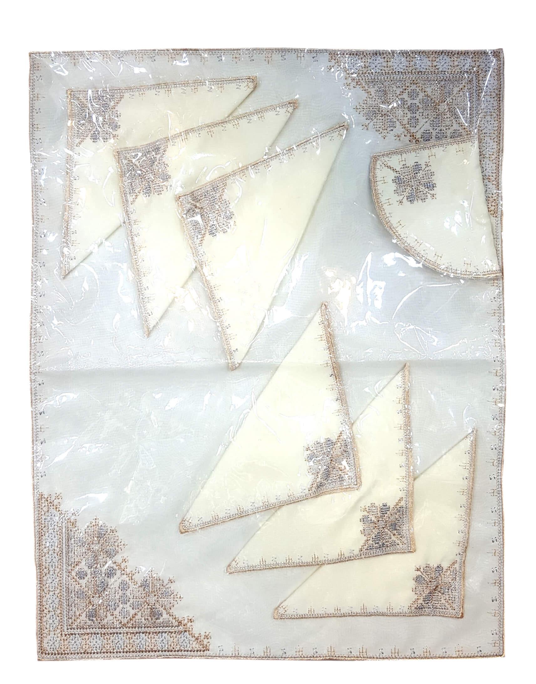 Fond de plateau & serviettes brodé