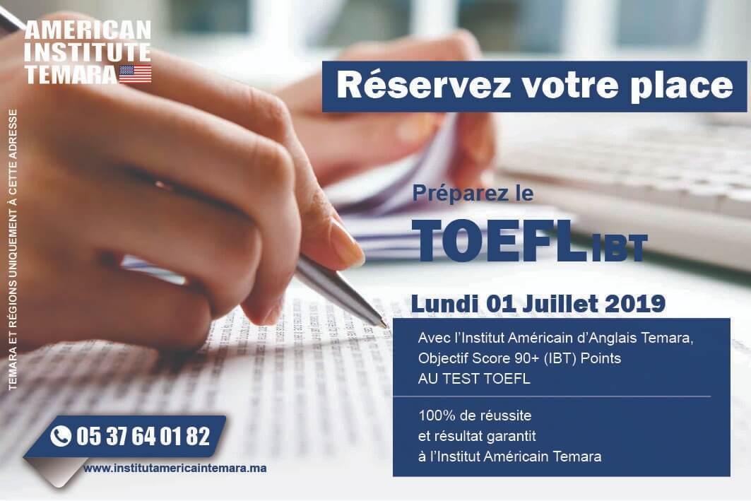 PREPARATION TOEFL À L'INSTITUT AMERICAIN TEMARA