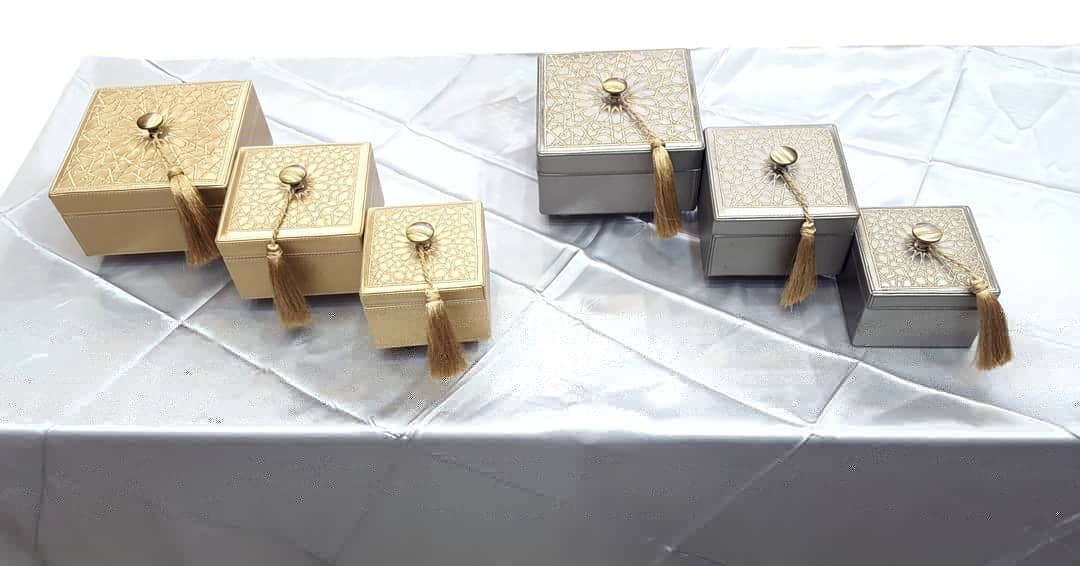 Boites carrées silver & gold