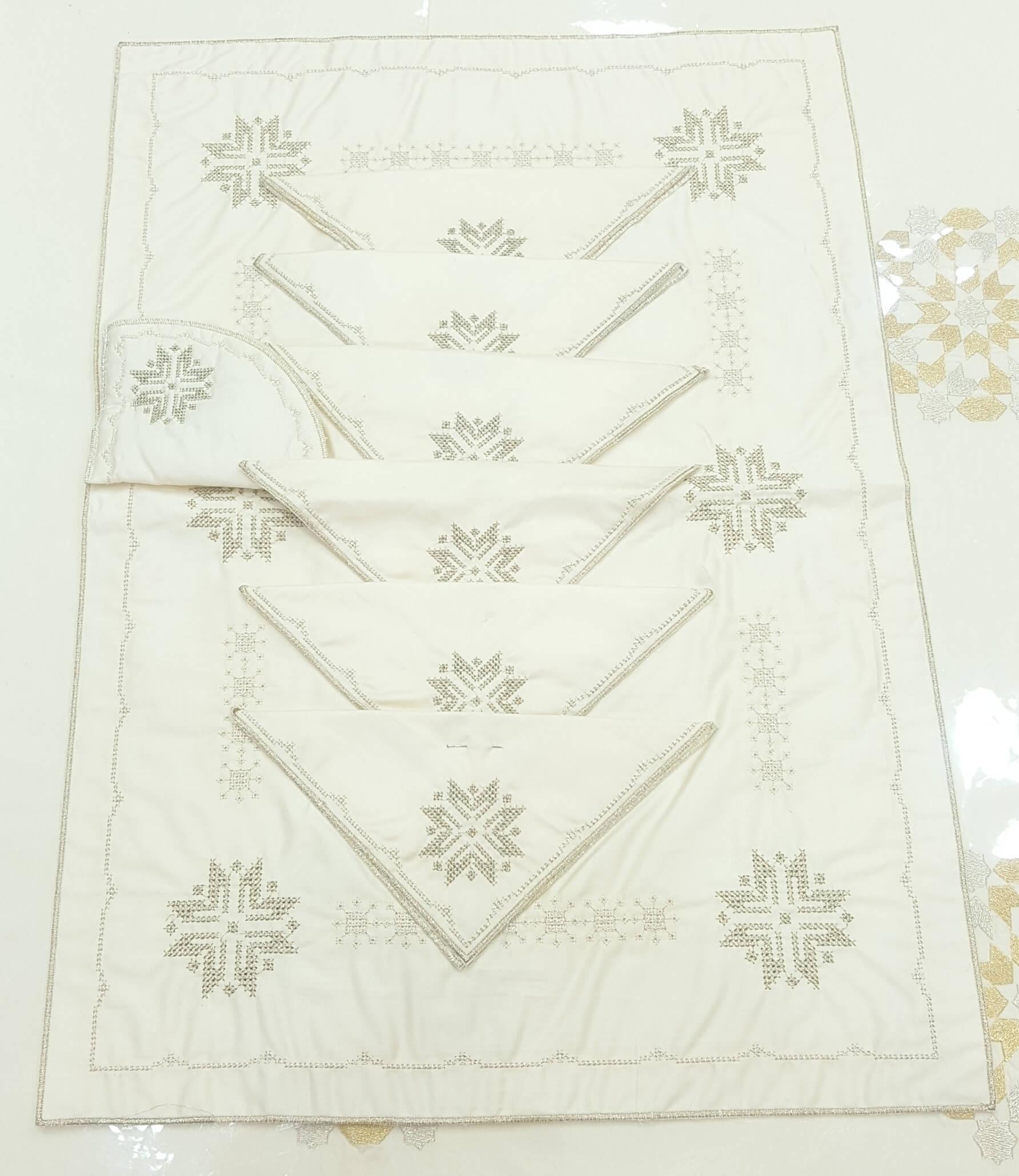 Fond de plateau & serviettes
