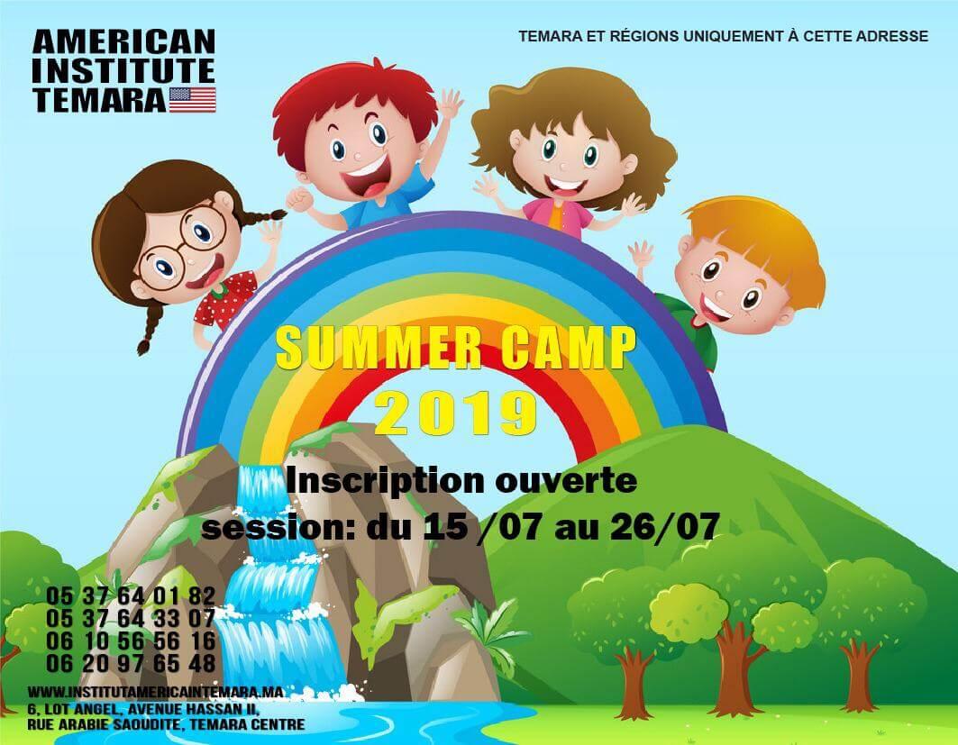 Summer camp kids &Juniors à l'Institut Amèricain Temara