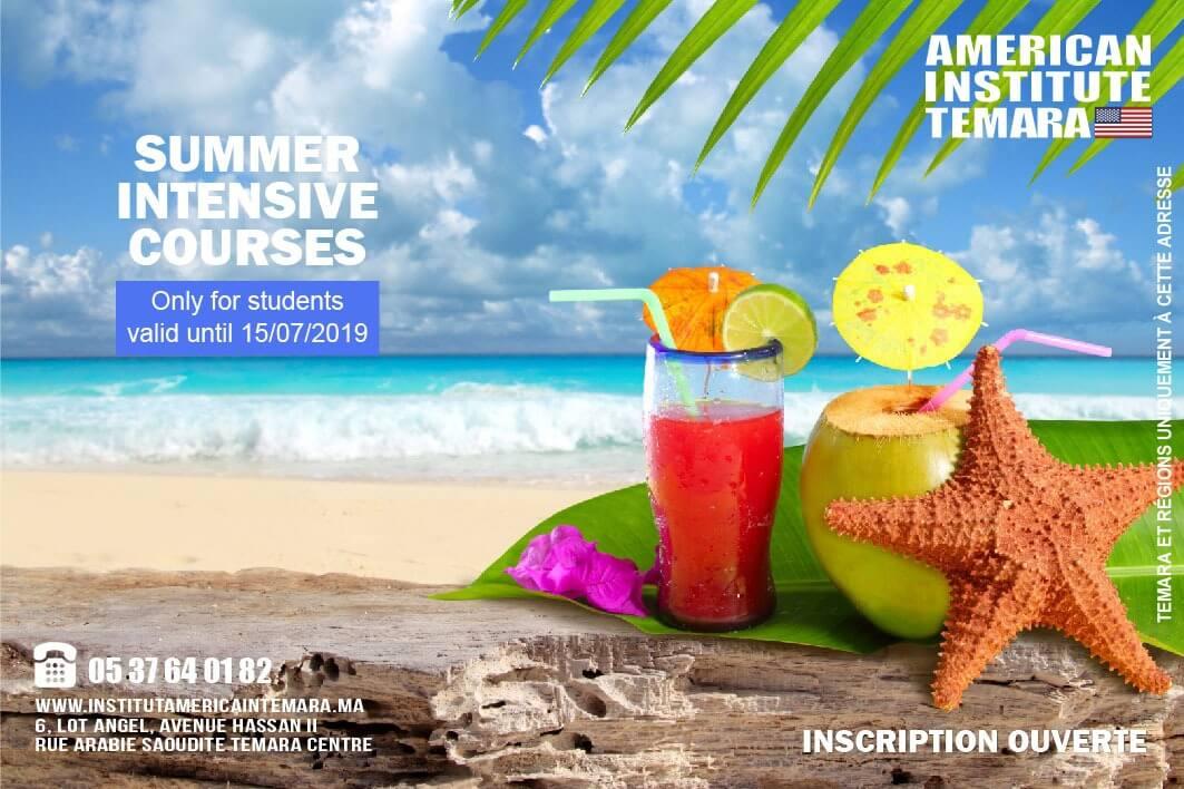 Anglais pour les Adultes Summer Session 2019