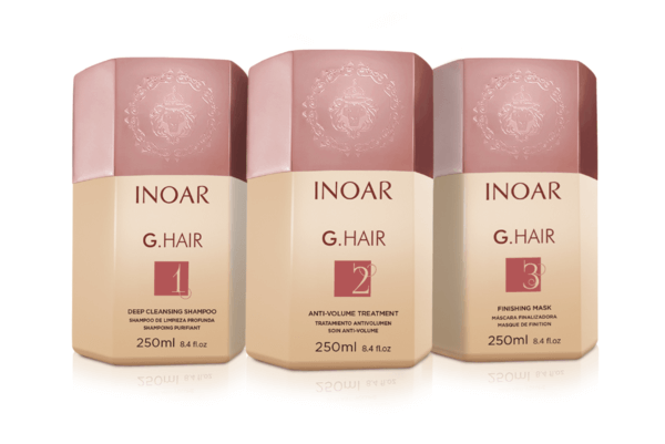 INOAR GHAIR Lissage Bresilien kit 3 X 250 ML emballage d'origine