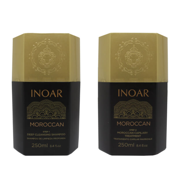 INOAR Marroquino Lissage Bresilien KIT 2 X 250 ML emballage d'origine