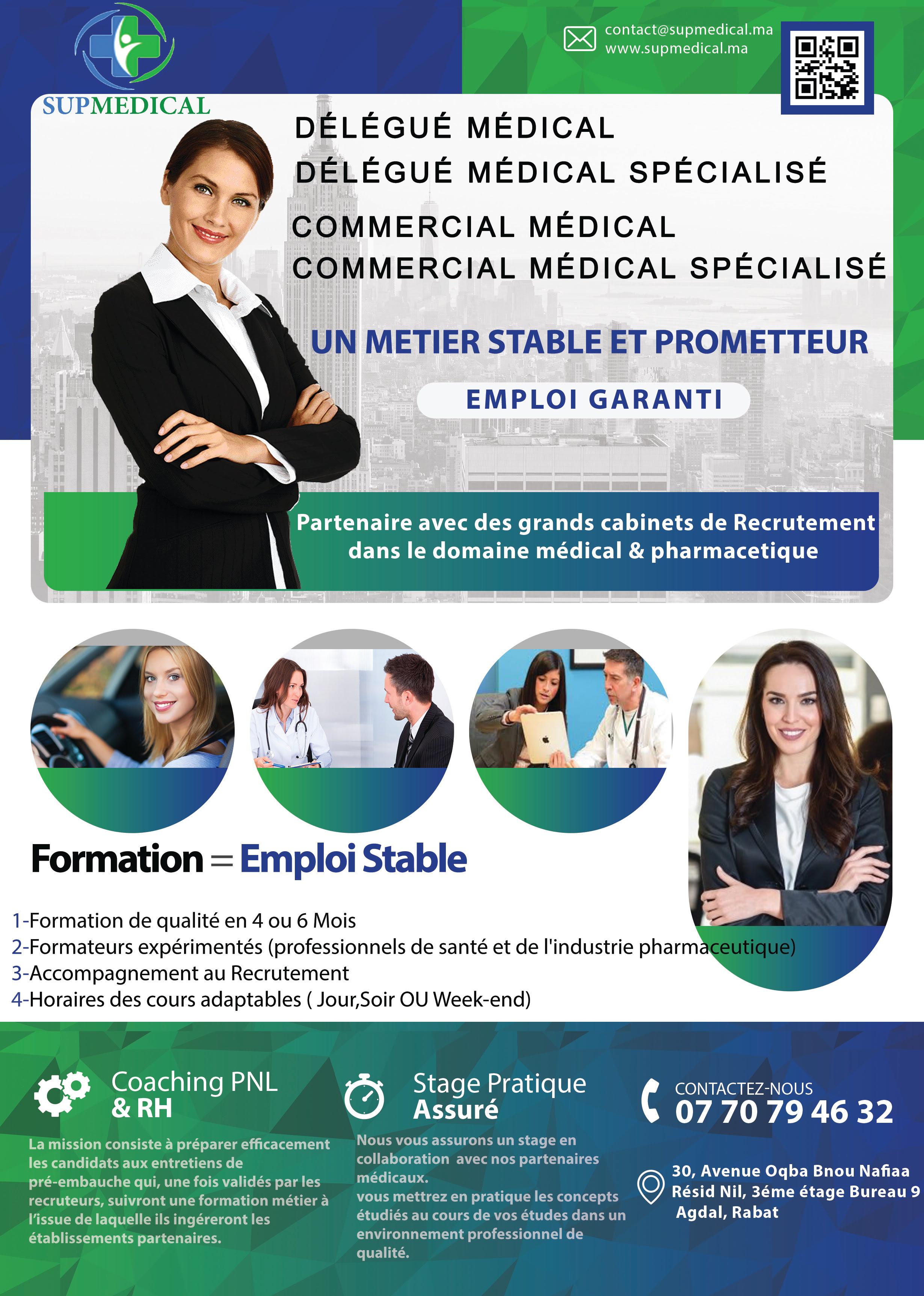 Formation de délégué médical spécialisé/ commercial médical spécialisé