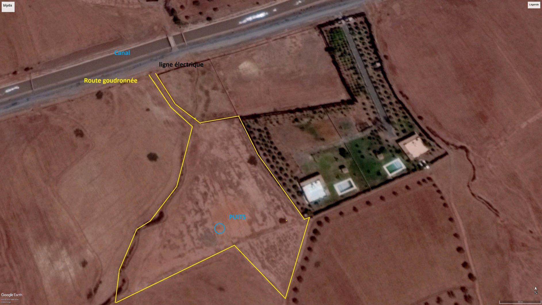 Magnifique terrain titré à construire proche de Marrakech