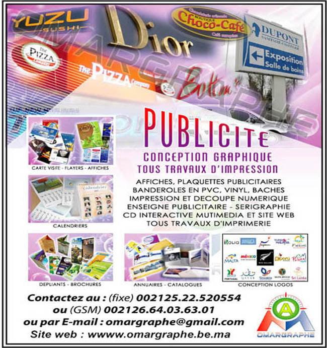 Travaux d'impression petit format de papeterie et Services graphique et Publicitaires