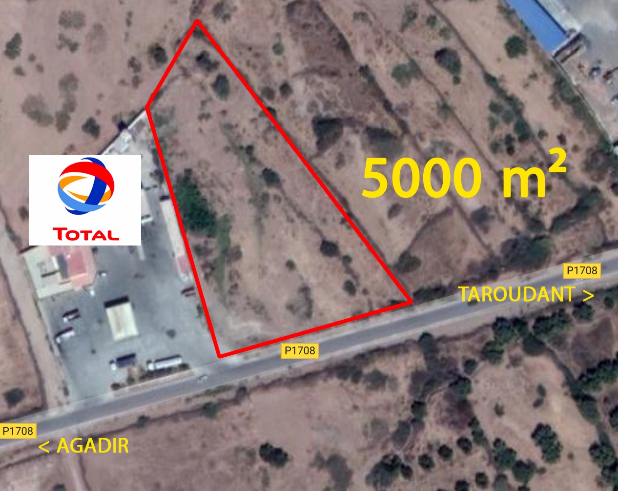 Terrain 5000m², Commercial / Constructible