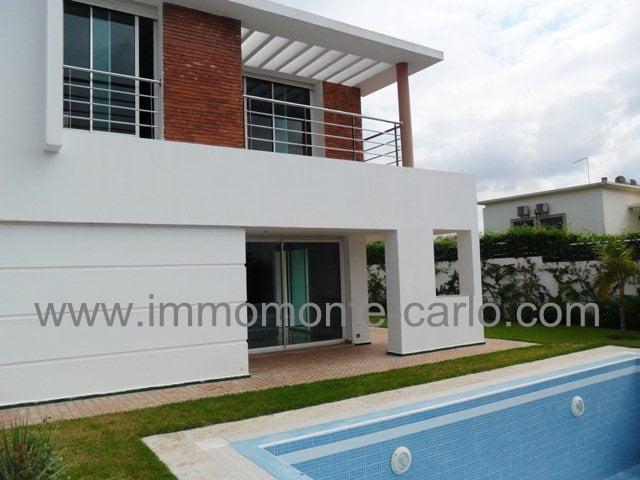 Villa moderne avec piscine à louer à souissi Rabat