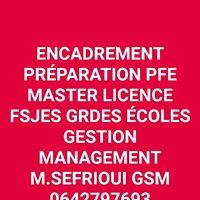 PROJETS de FIN d' ETUDES master licence Préparation Encadrement Réalisation