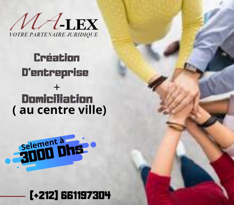 Création de société à Tanger, Domiciliation à Tanger – Création d'entreprise à Tanger Malex