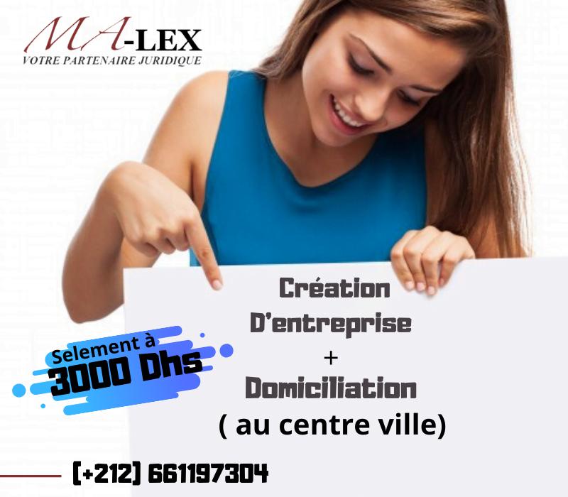Création de société à Tanger avec domiciliation à Tanger – Création d'entreprise Ma-Lex