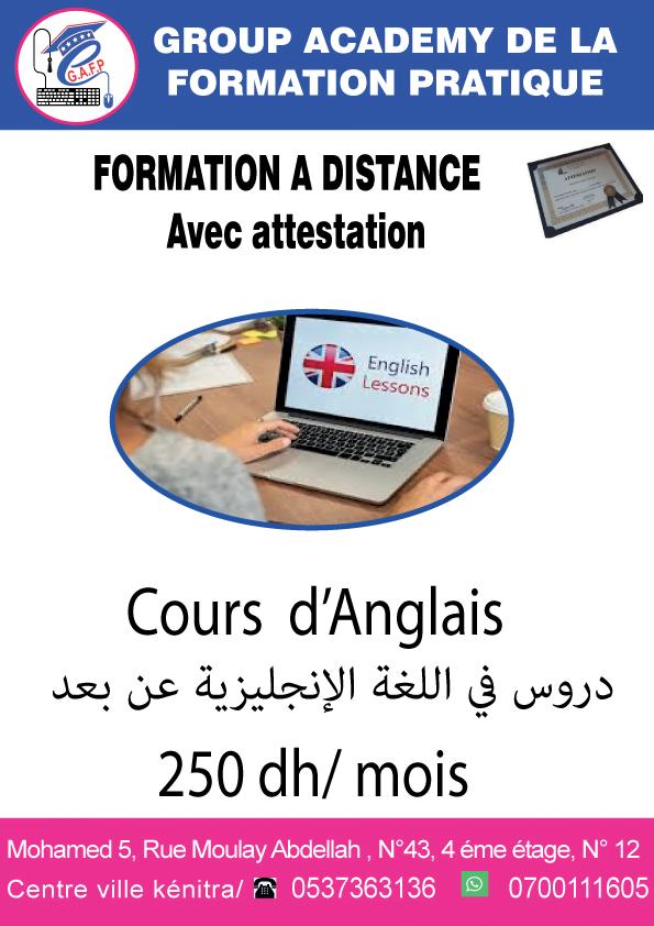 Formation de langue anglaise kenitra maroc à distance