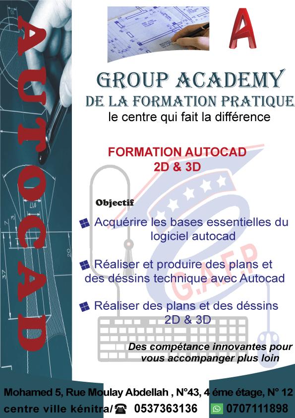Cours Autocad 2D/3D Accélérée à distance
