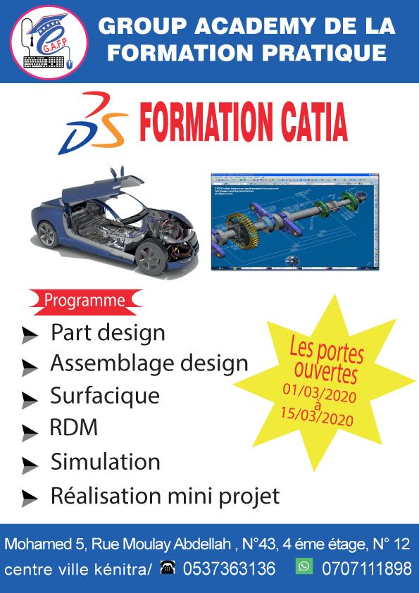 formation   CATIA  V5  100% Pratique  à distance  .