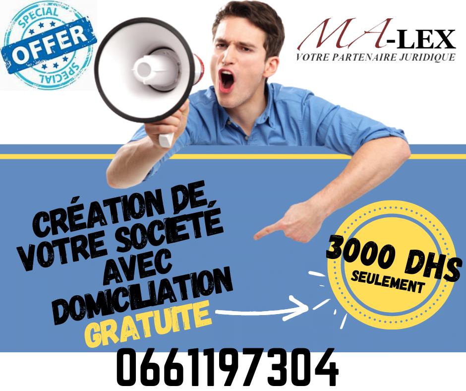 Création de société à Tanger – Domiciliation à Tanger –  Malex – création d'entreprise à Tanger