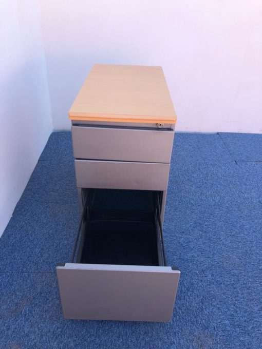 Caisson 3 tiroirs hauteur bureau