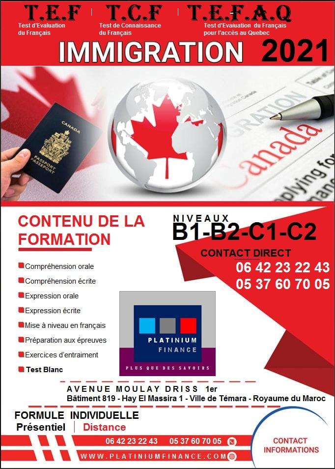 Préparation aux TESTS -/ TEFAQ-TCF-TEF-TFI-DELF-DALF-DILF- CANADA- FRANCE –TEMARA