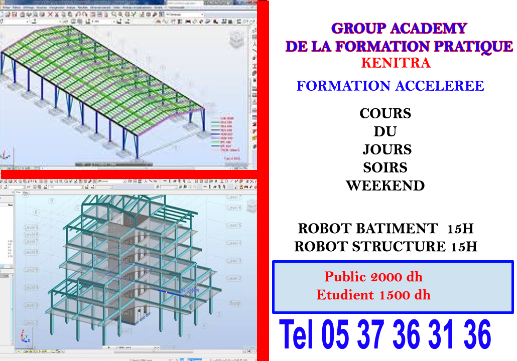 Formation autocad bâtiment kenitra à distance