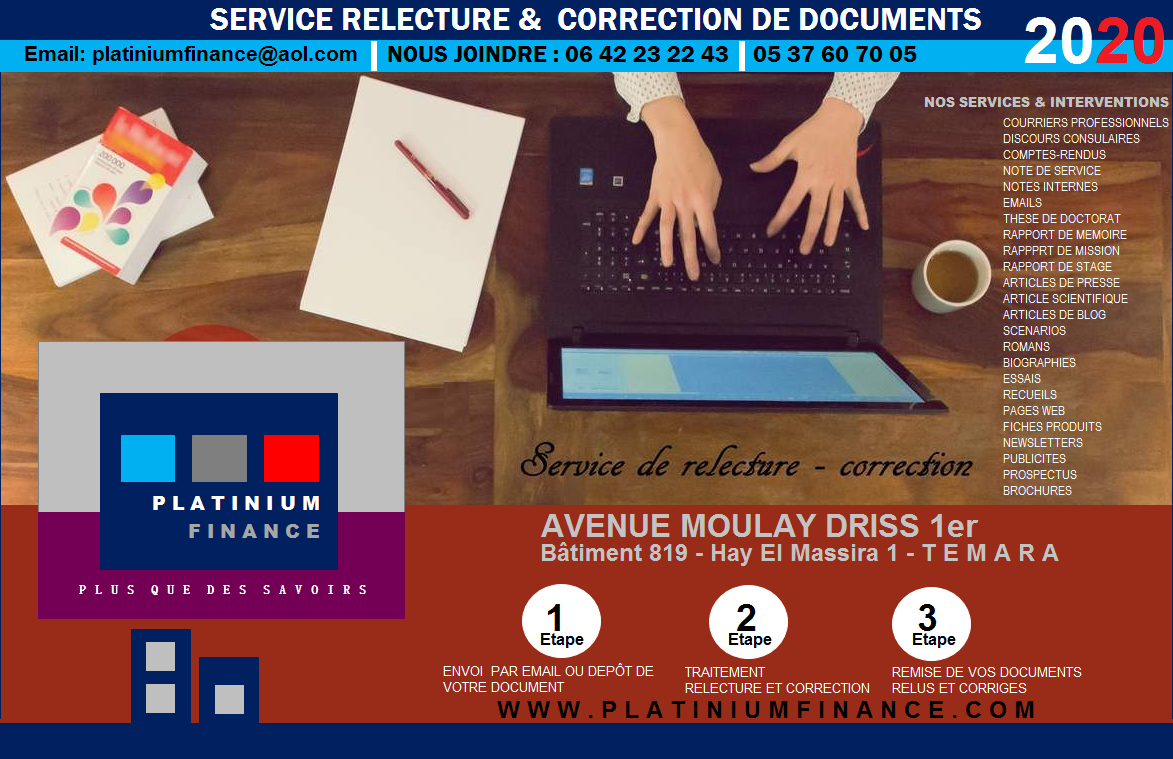 SERVICE – Relecture et Correction de  vos documents