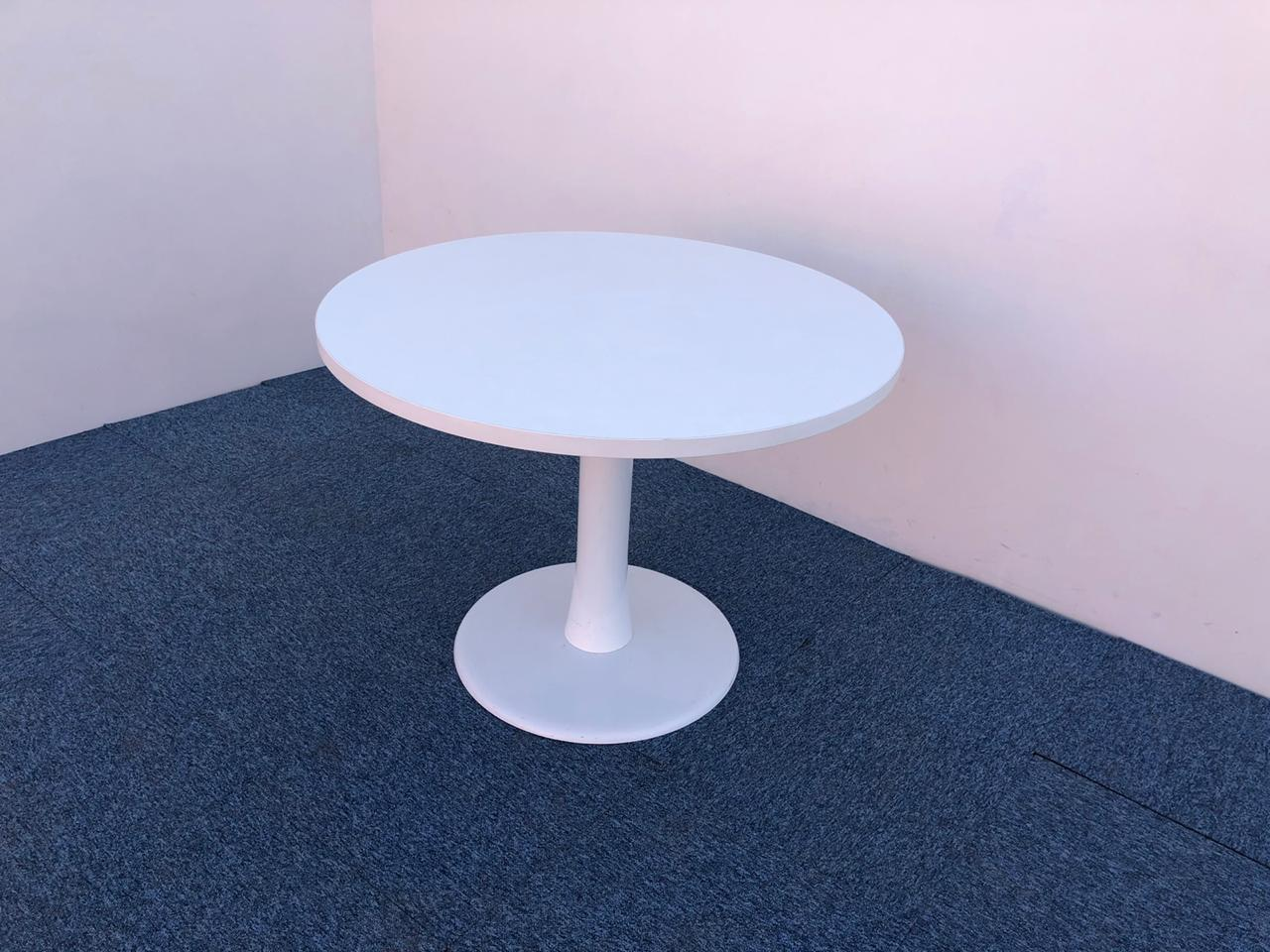 Table ronde blanche Haworth 100cm