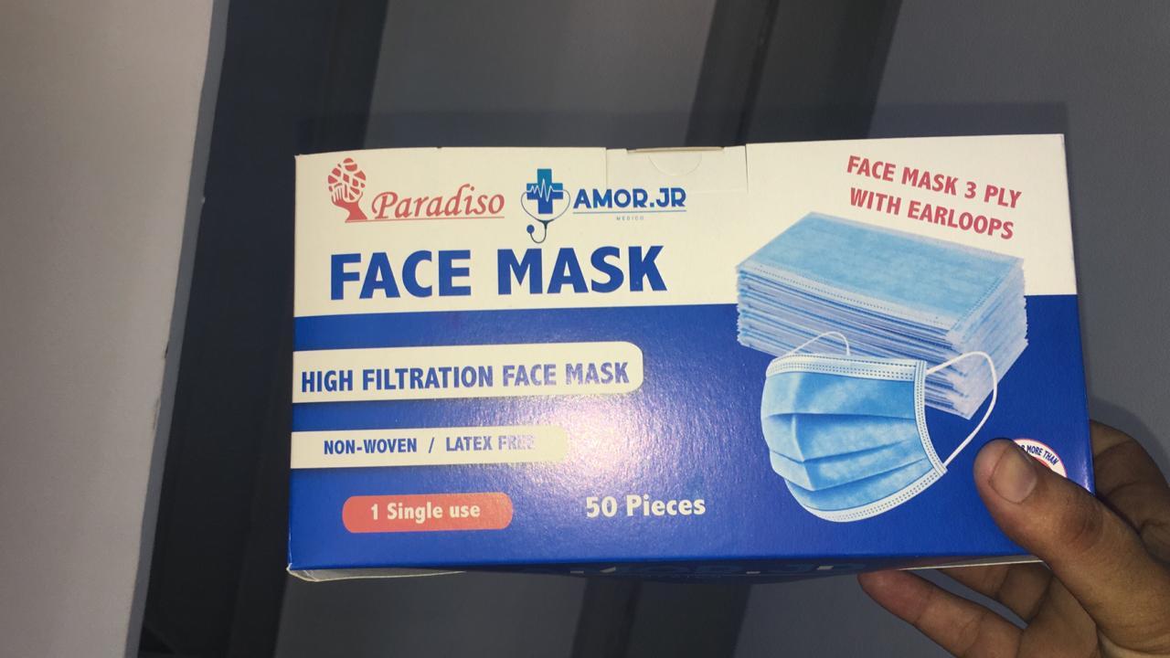 Boite de 50 Masque/Bavette de Protection