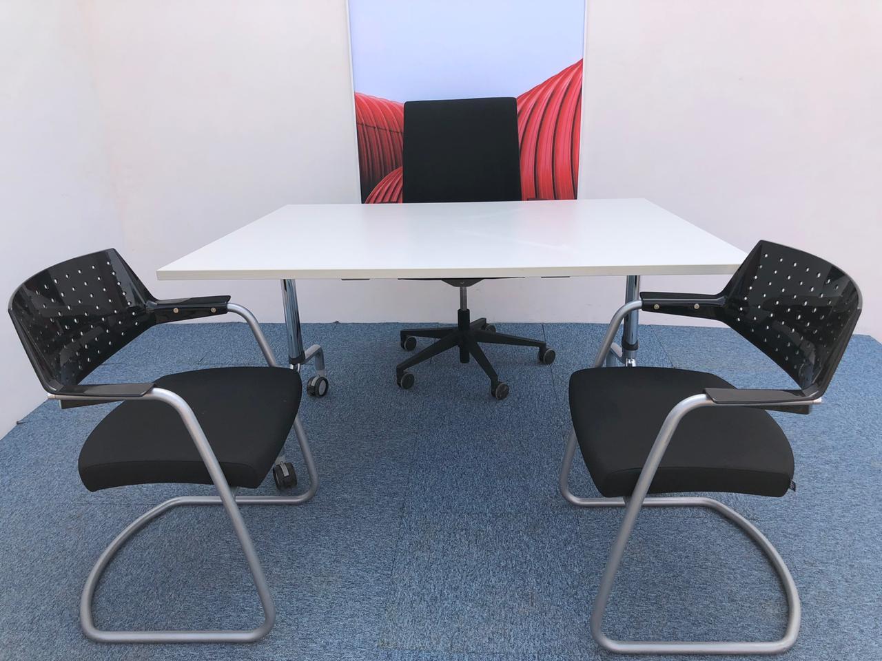 Table pliante avec roulette 80x160cm