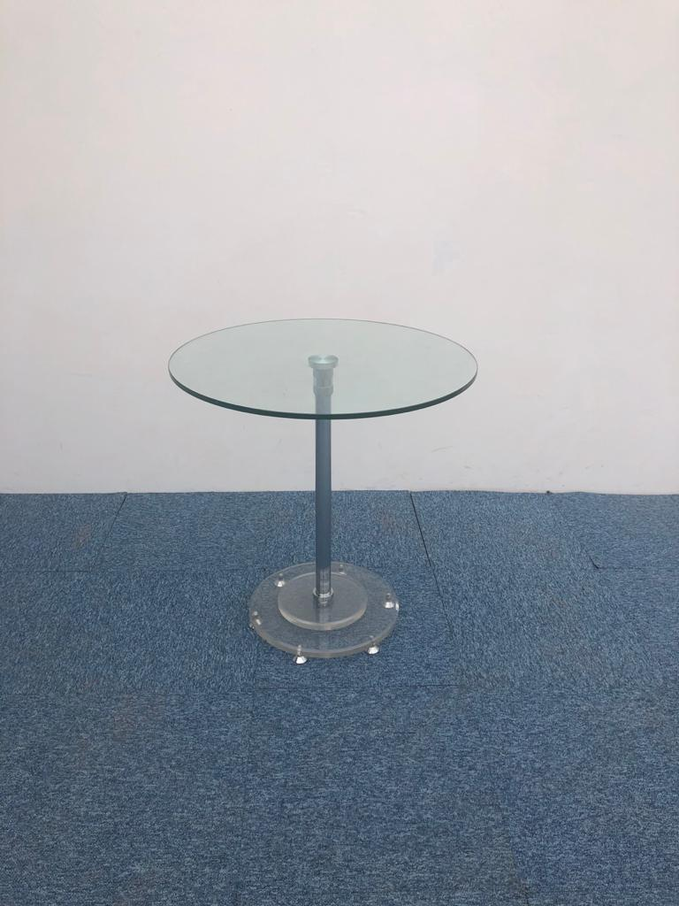 Table ronde en verre 70cm