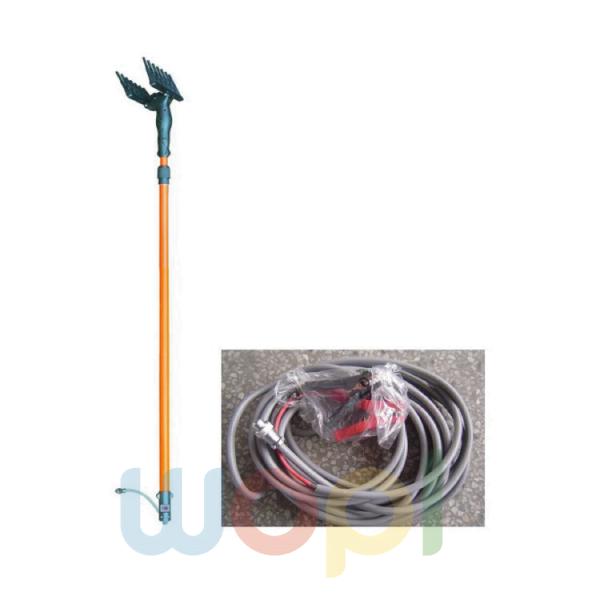 Peigne vibreur électrique télescopique pour la récolte des olives