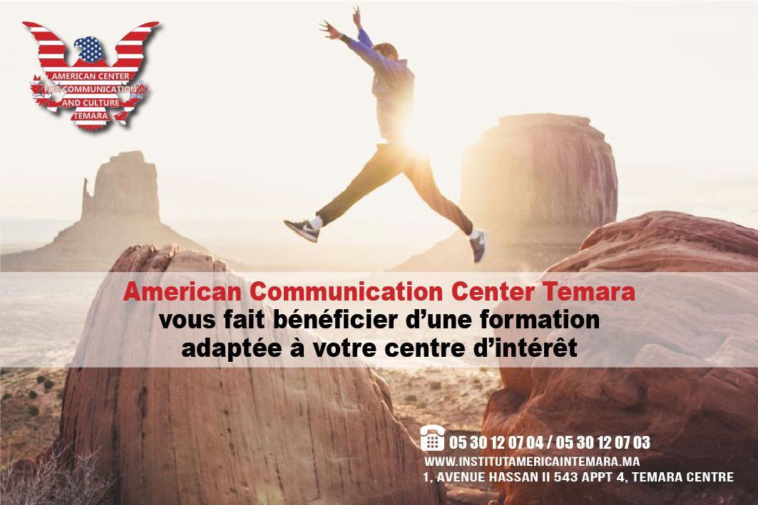American Communication Center Temara offre des cours d'anglais de communication