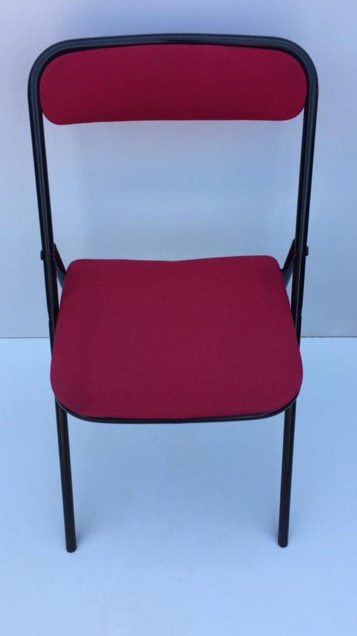 Chaise pliante en tissus rouge