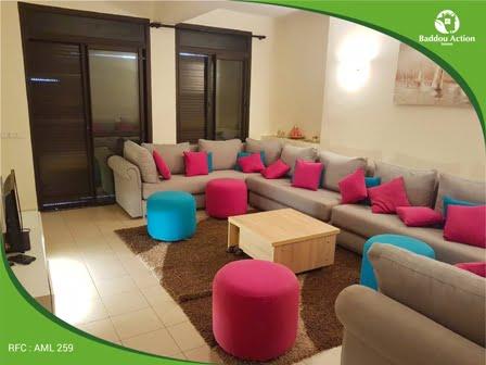 location d'un olappartement meublé à mahaj riad RABAT