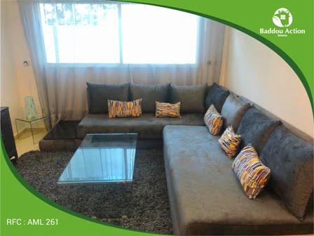 Location d'un appartement meublé à Jnanne souissi