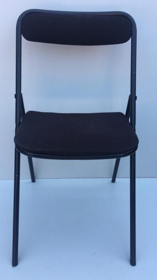 Chaise pliante en tissus Plichaise SOUVIGNET NOIR