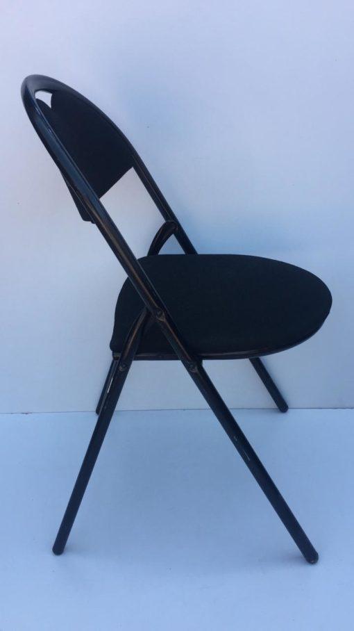 Chaise pliante tissus noir