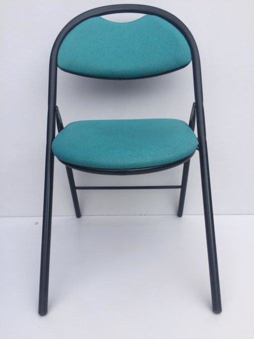 Chaise pliante PRO Coloris Vert en simili cuir