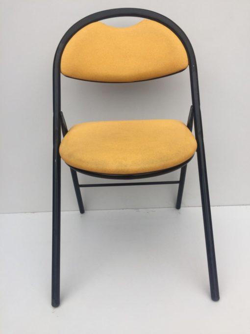 Chaise pliante PRO Coloris Jaune en simili cuir