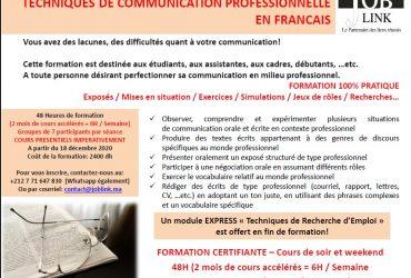 FORMATION CEERTIFIANTE COMMUNICATION PROFESSIONNELLE EN FRANCAIS