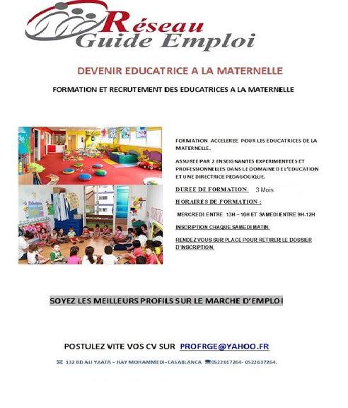 Formation  des éducatrices à la maternelle.