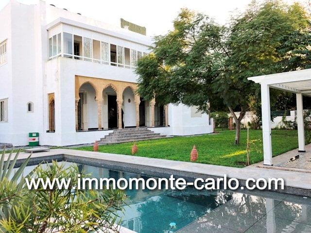 Location villa Rabat avec piscine à Hassan