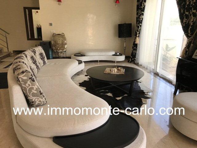 Belle villa moderne meublée ou vide Harhoura au bord de la mer