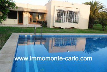 Magnifique villa avec piscine et chauffage à Souissi RABAT
