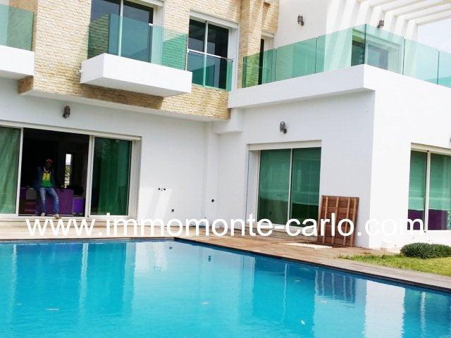 Splendide Villa neuve style moderne à vendre à Souissi Rabat