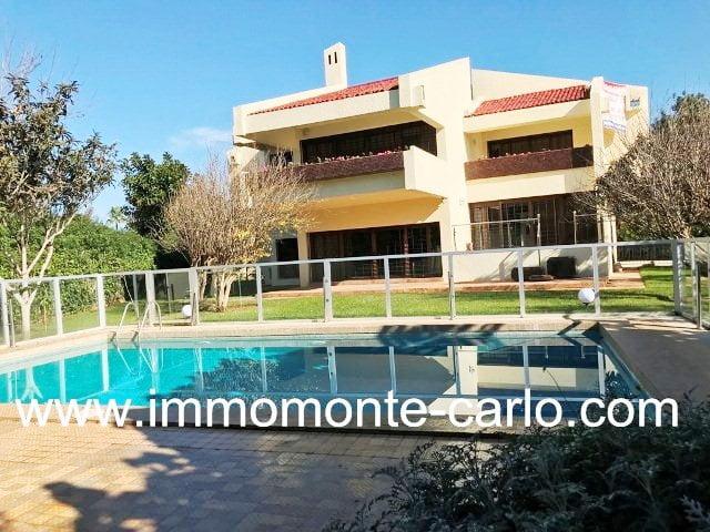Très jolie villa d'architecte piscine à Souissi Rabat