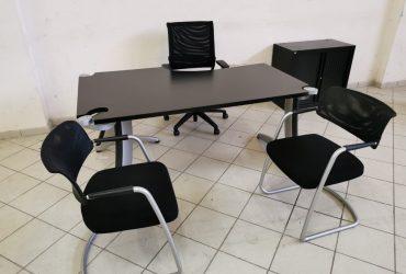 Bureau angle Steelcasse chaise armoire visiteur
