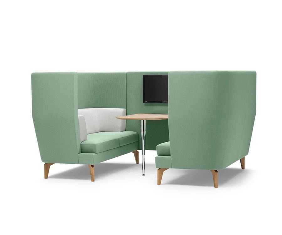 Canapé Lyndon Design Entente 4 places Gris/jaune