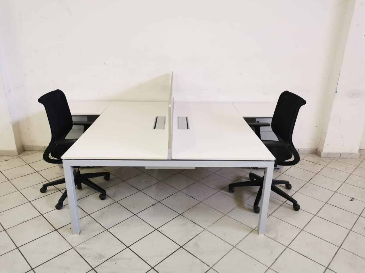 Ensemble bench Haworth 180×80 avec caisson 3T chaise