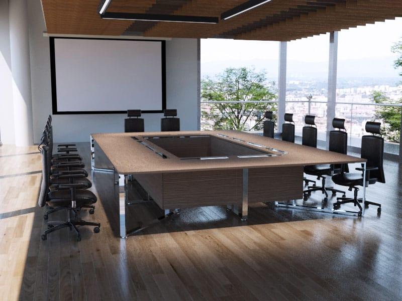 Table de réunion rectangulaire Asco 20 personnes