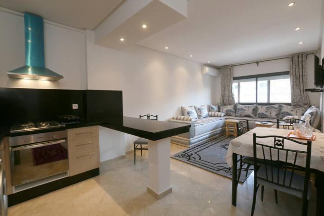 Location Appart 50m², Guéliz, Avenue Hassan II, Balcon
